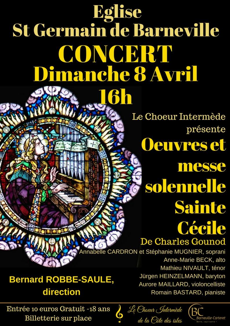 Concert Œuvres et Messe Solennelle Sainte Cécile de Charles Gounod