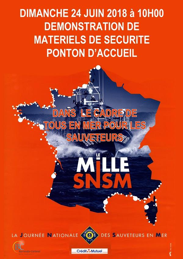 SNSM :Démonstration de matériel de sécurité